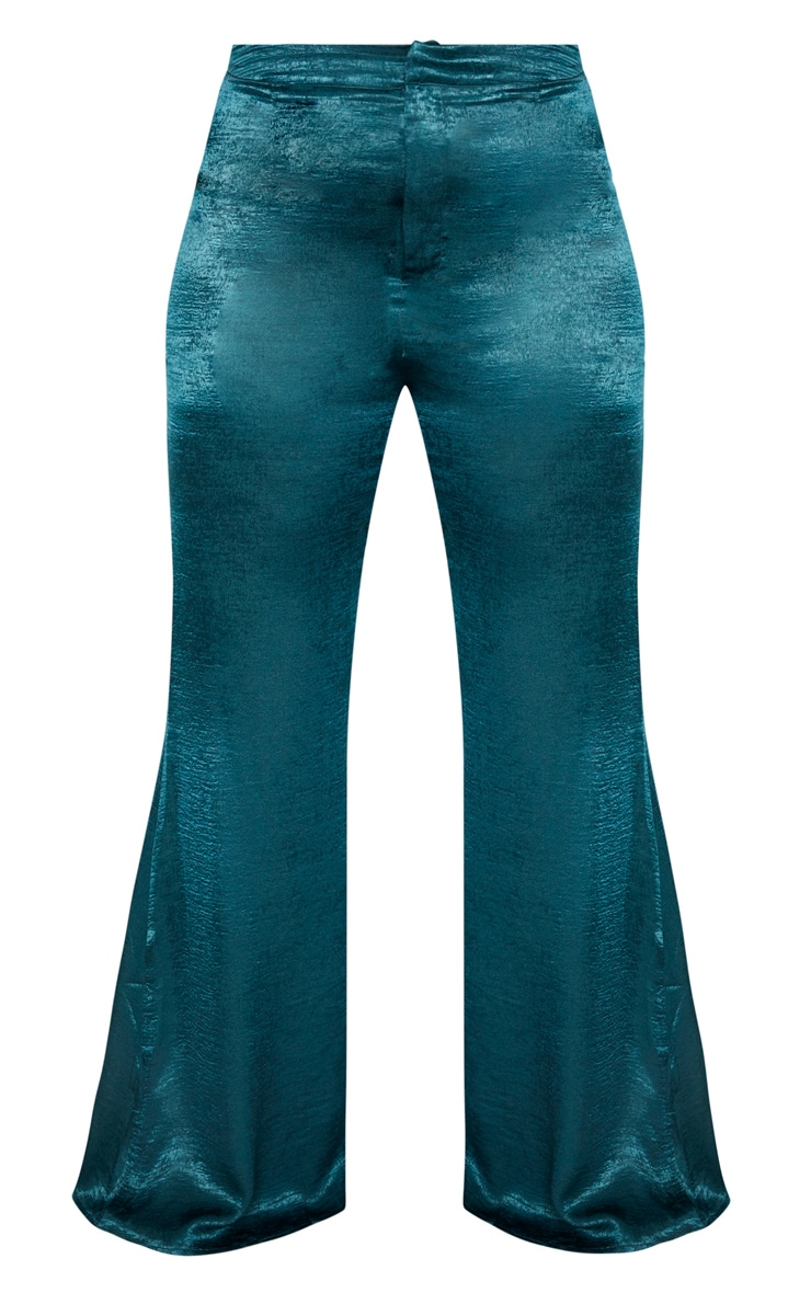 Plus Emerald Green Tailored Extreme Flared Pants 3