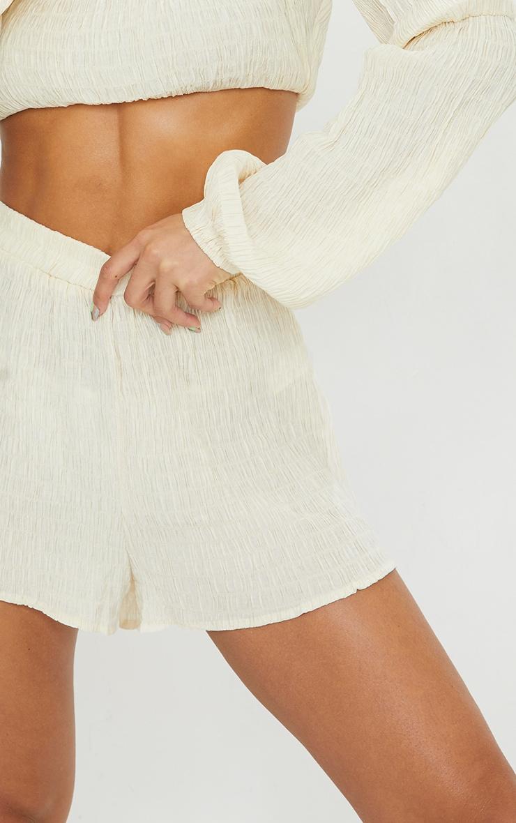 Stone Shirred Crinkle Beach Shorts 5