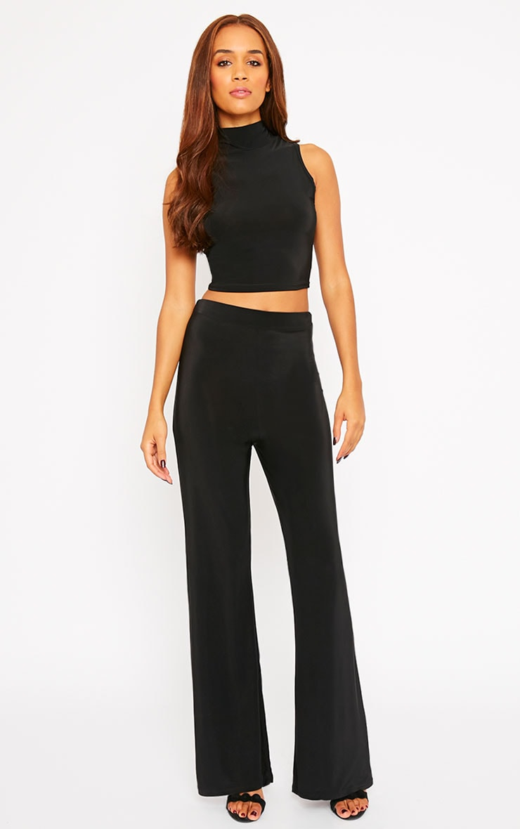 Remi Black Soft Touch Wide Leg Trousers 5