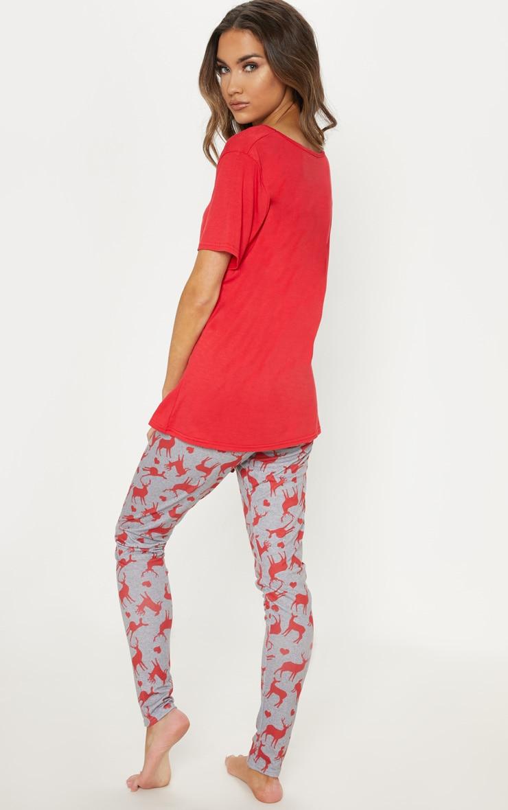 Oh Deer Legging Grey Pyjama Set  2