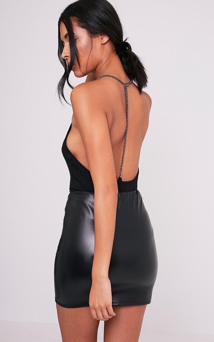 Chantelle Black Chain Back Bandage Bodysuit 1