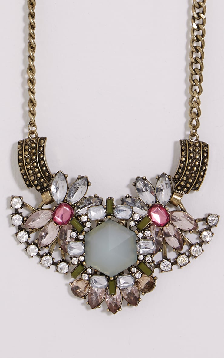 Celia Gold Chunky Diamante Necklace 4