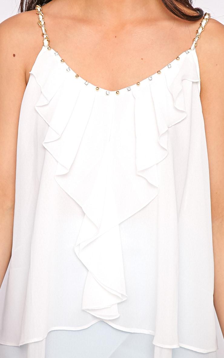 Jessy White Chain Swing Vest 3
