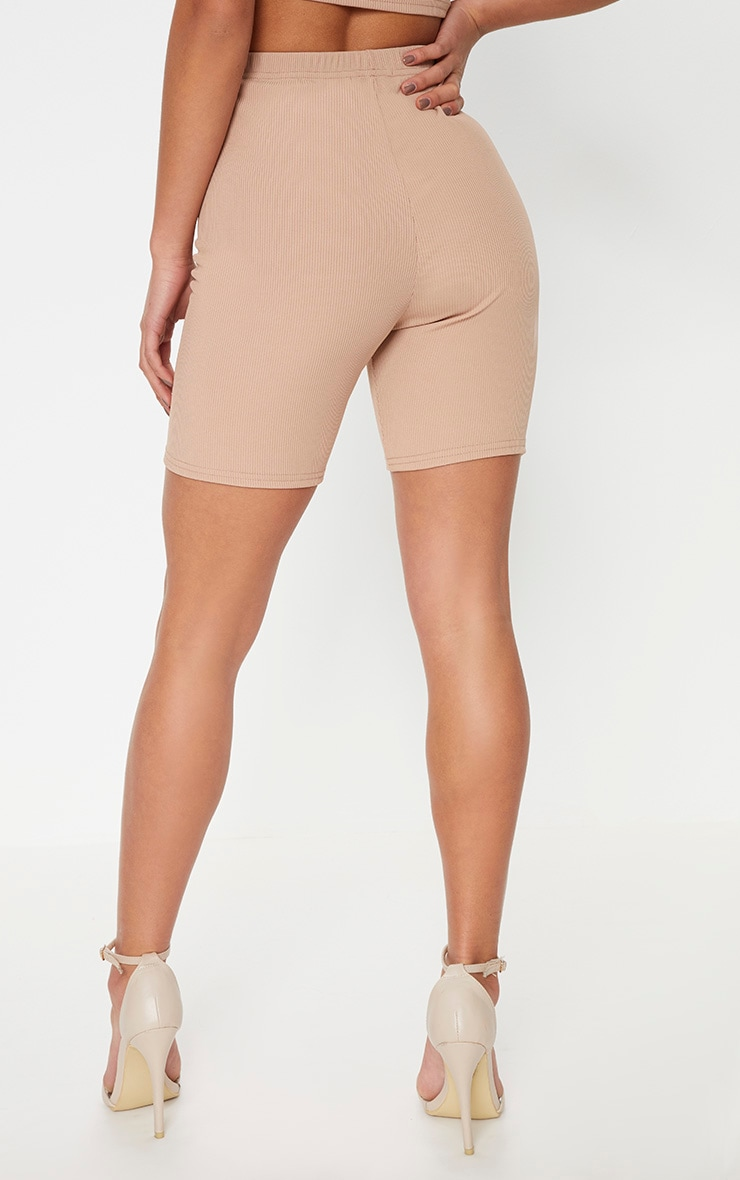 Petite Stone Ribbed Cycling Shorts 4