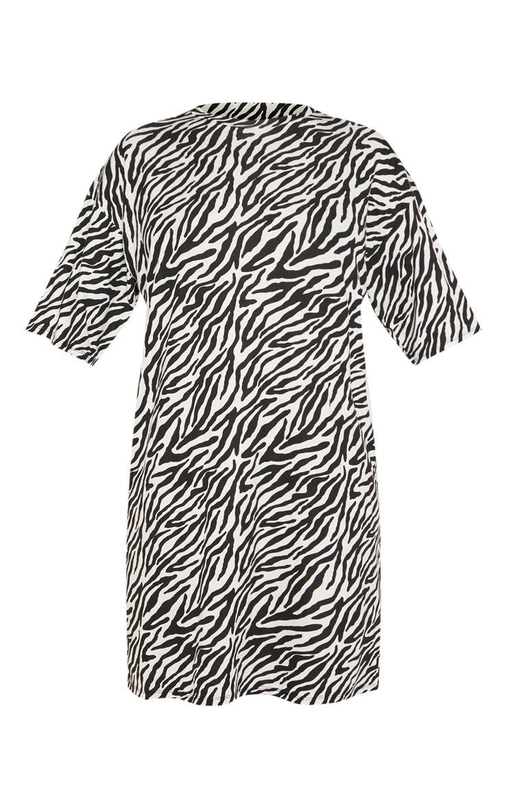 Tall Zebra Print Oversized T-Shirt Dress 3