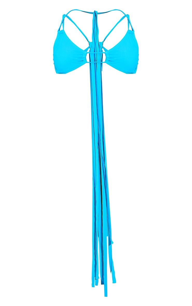 Blue Mini Tassel Tie Bikini Top 8