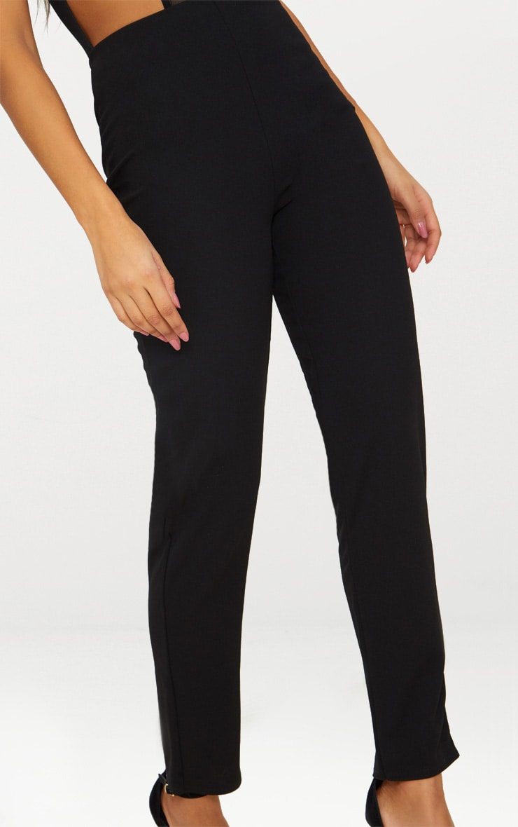 Black Slim Leg Crepe Pants 4