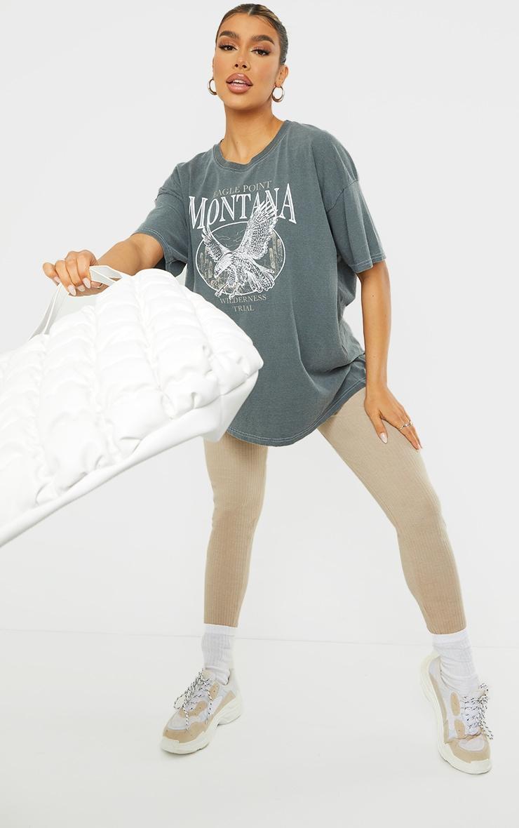 Black Montana Logo Oversized Washed T Shirt 3