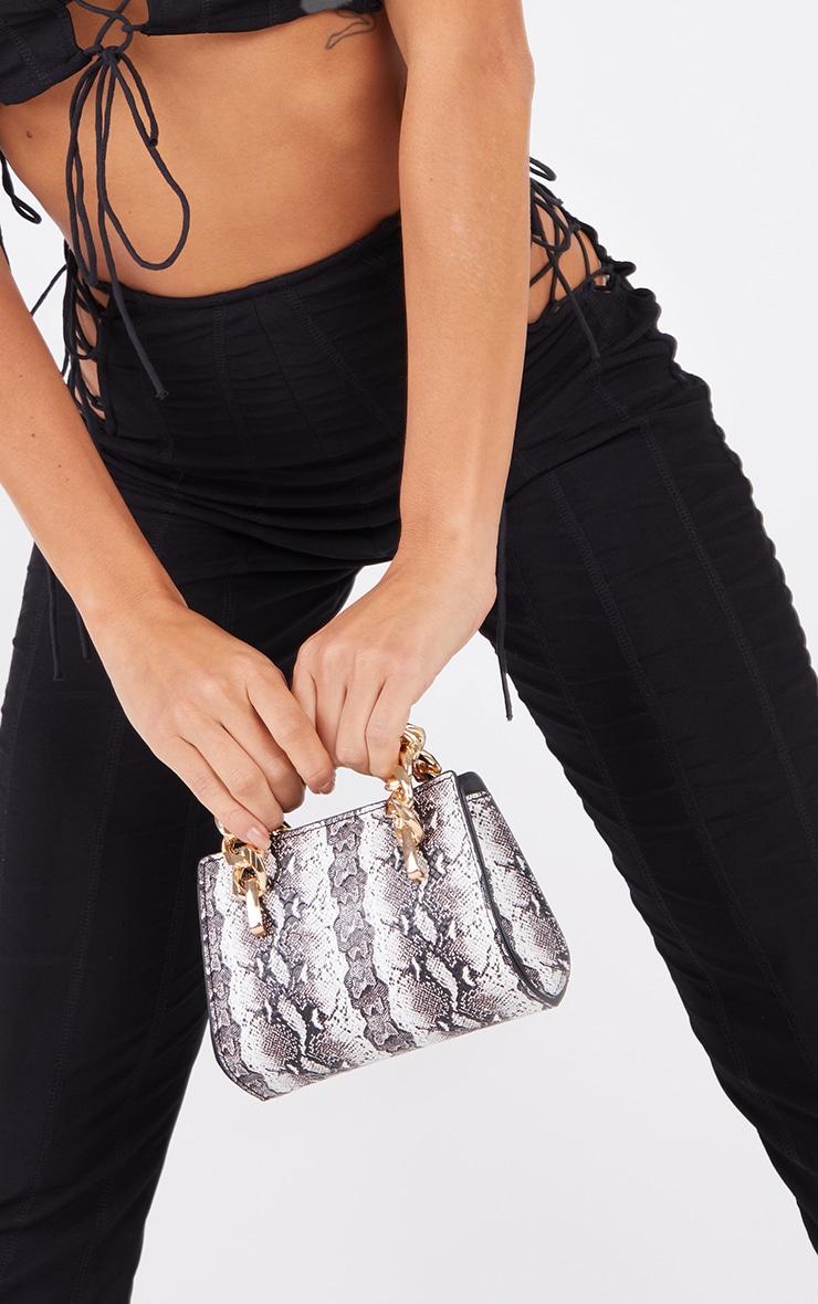 Black Snake Chunky Chain Mini Grab Bag 1