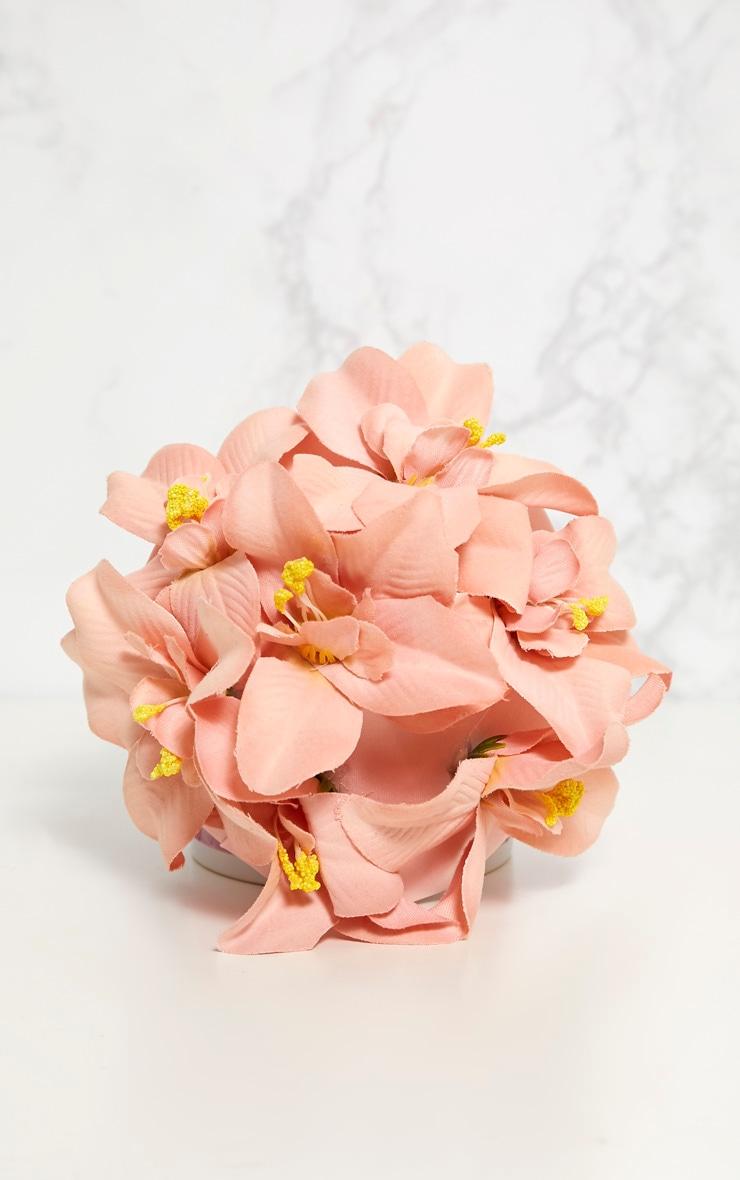 Dusty Pink Flower Hair Clip 3