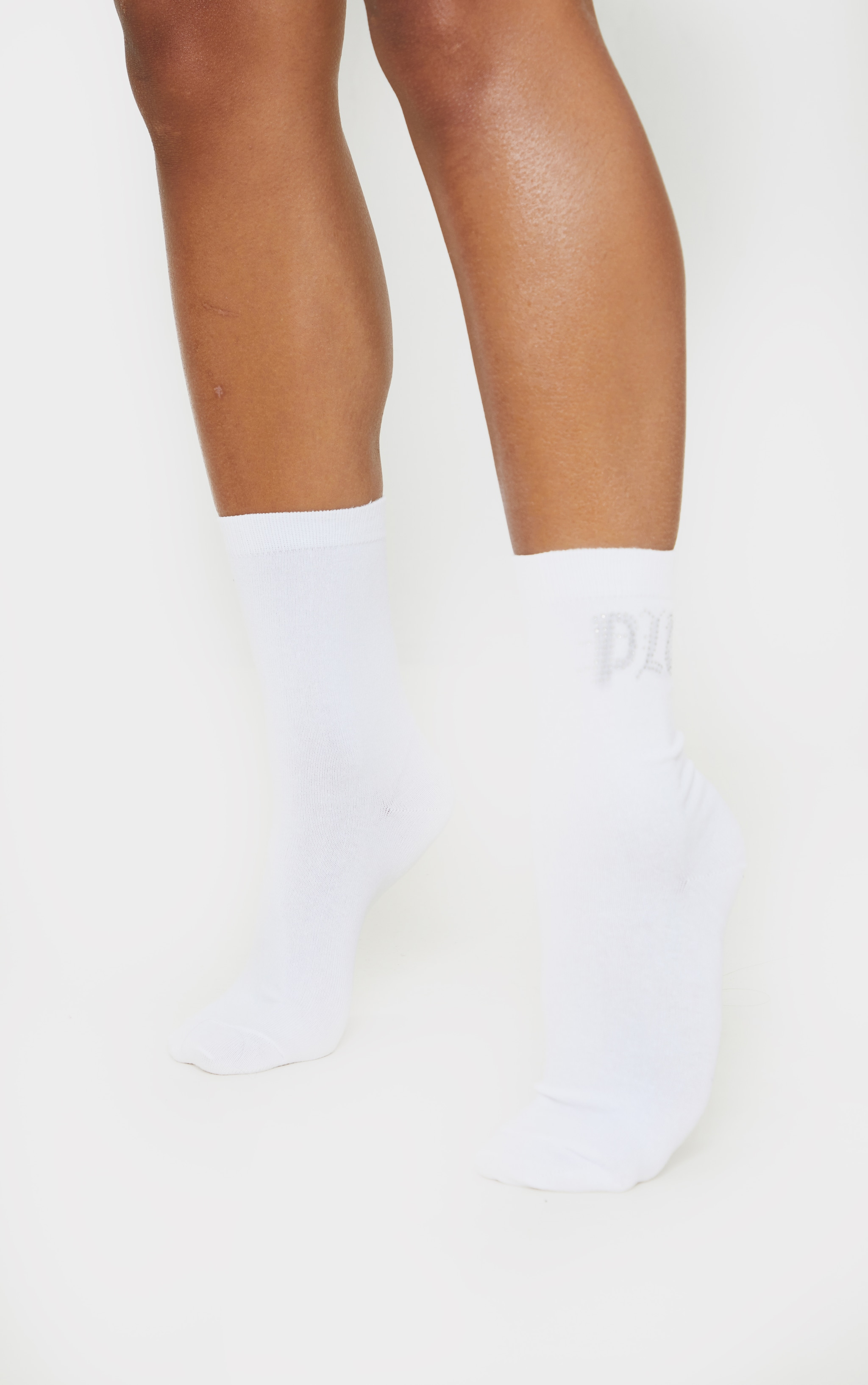 PRETTYLITTETHING Diamante Three Pack Socks 2