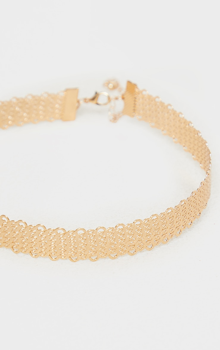 Gold Solid Rope Choker 4