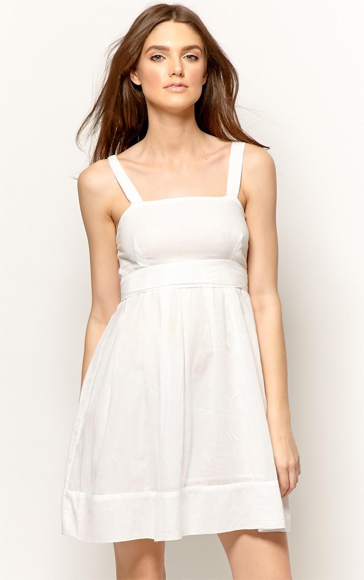 Sadie White Linen Dress 1
