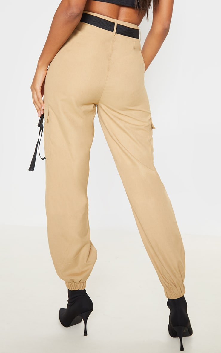 Stone Buckle Detail Belted Cargo Trouser 4