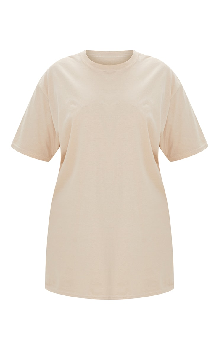 Plus Sand Oversized Boyfriend T Shirt 5
