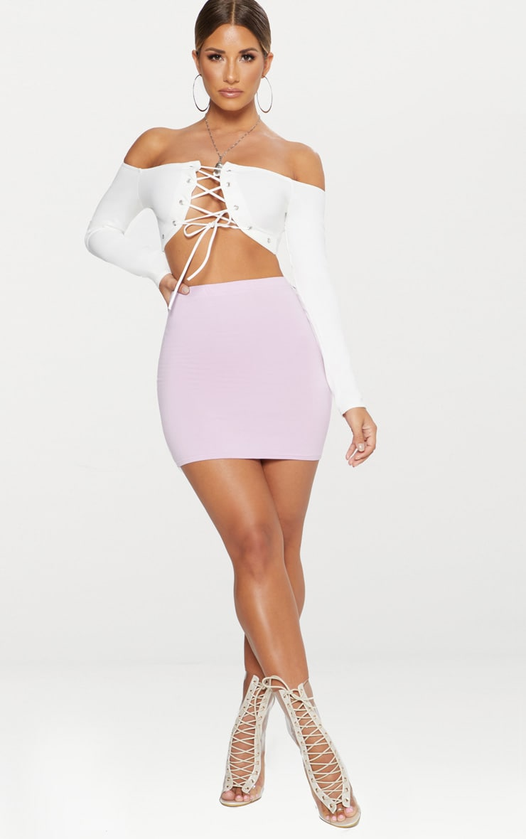 Basic Lilac Jersey Mini Skirt 5