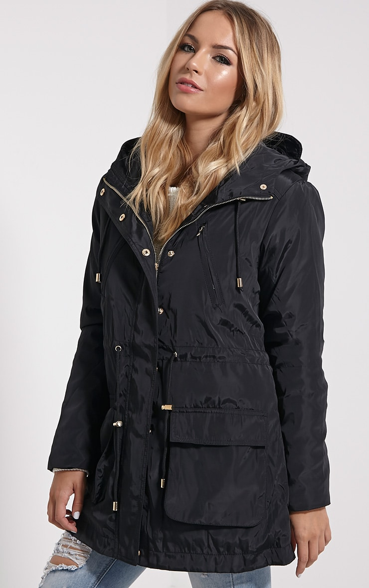 Safi Black Hooded Coat 4