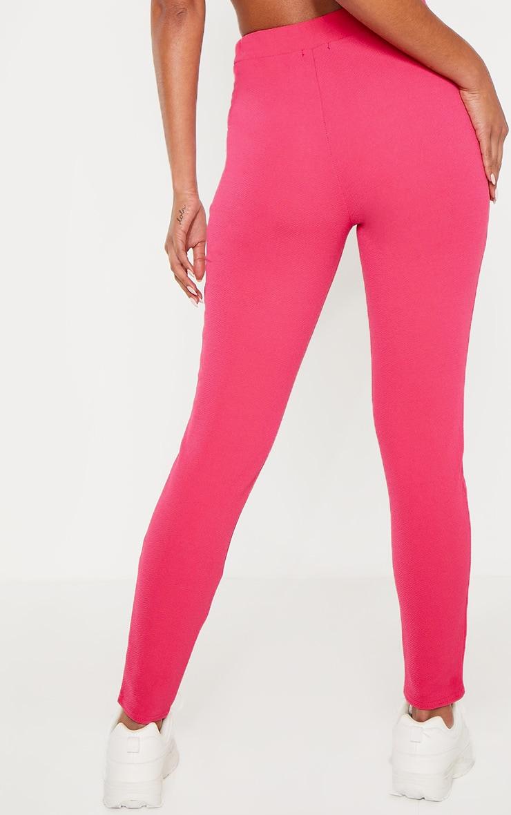 Bright Pink Crepe Skinny Pants 4