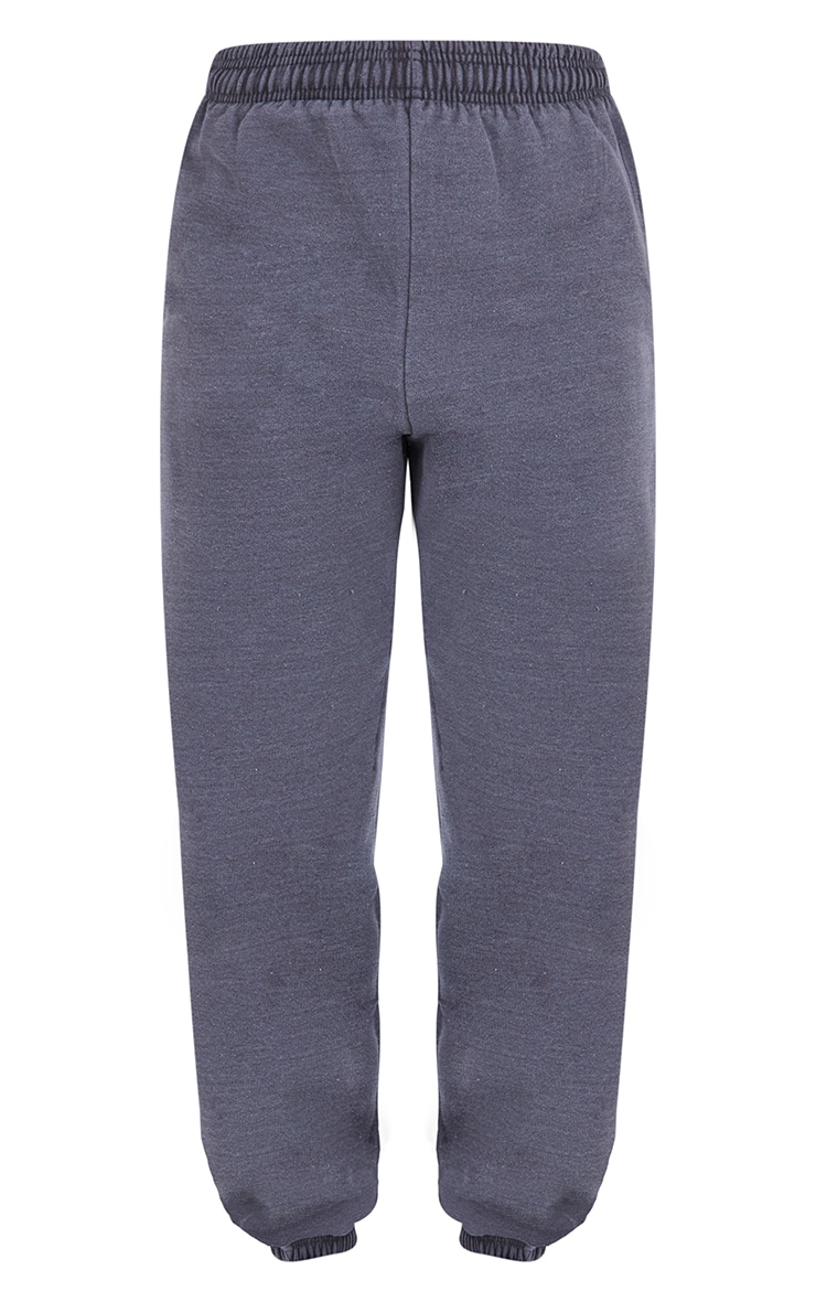 Recycled Charcoal Grey Washed Joggers 5