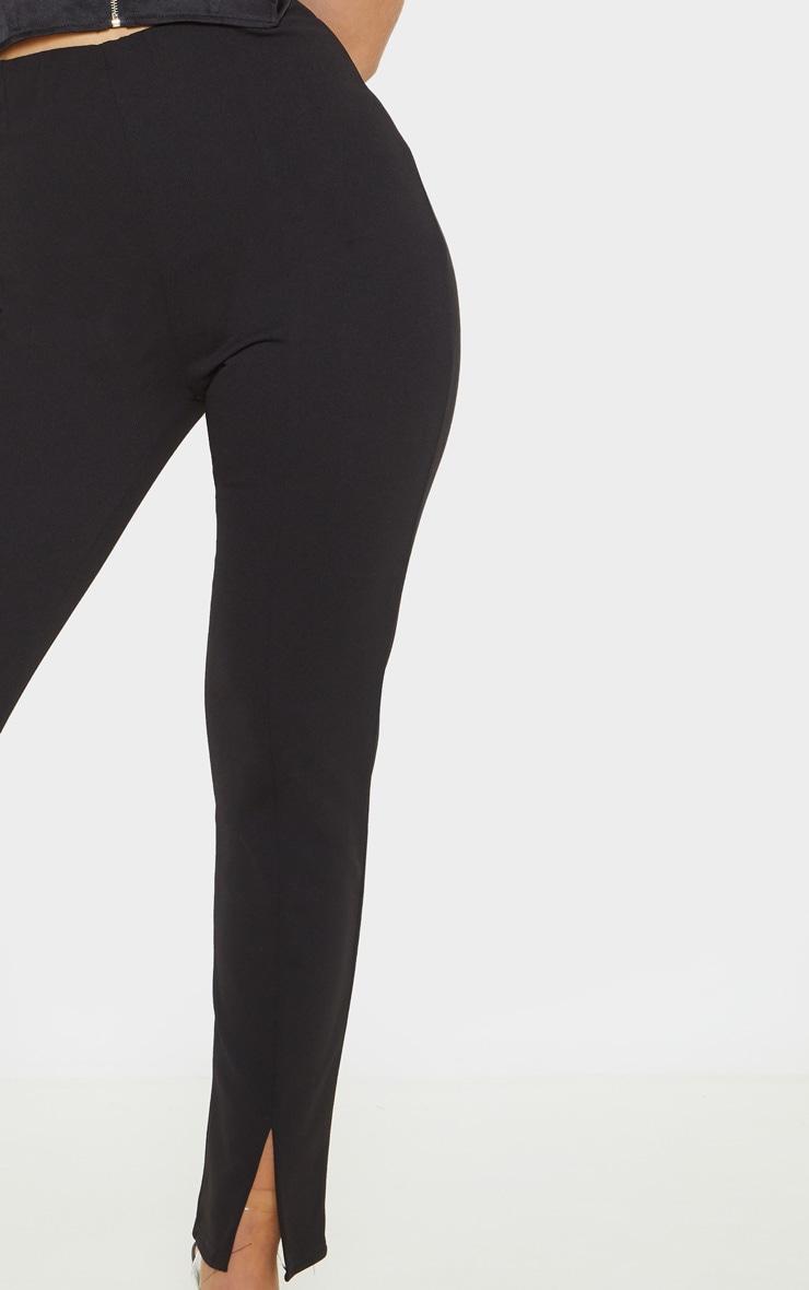 Black Split Hem Front Pants 5