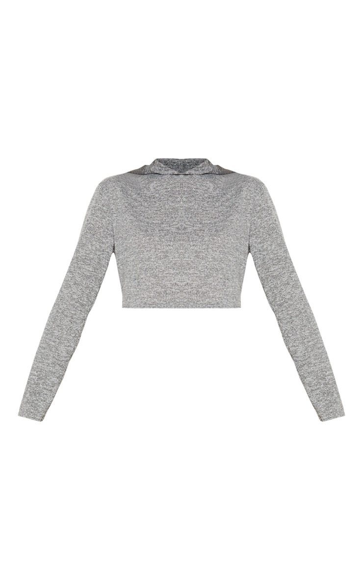 Grey Knitted Hooded Lounge Set  3