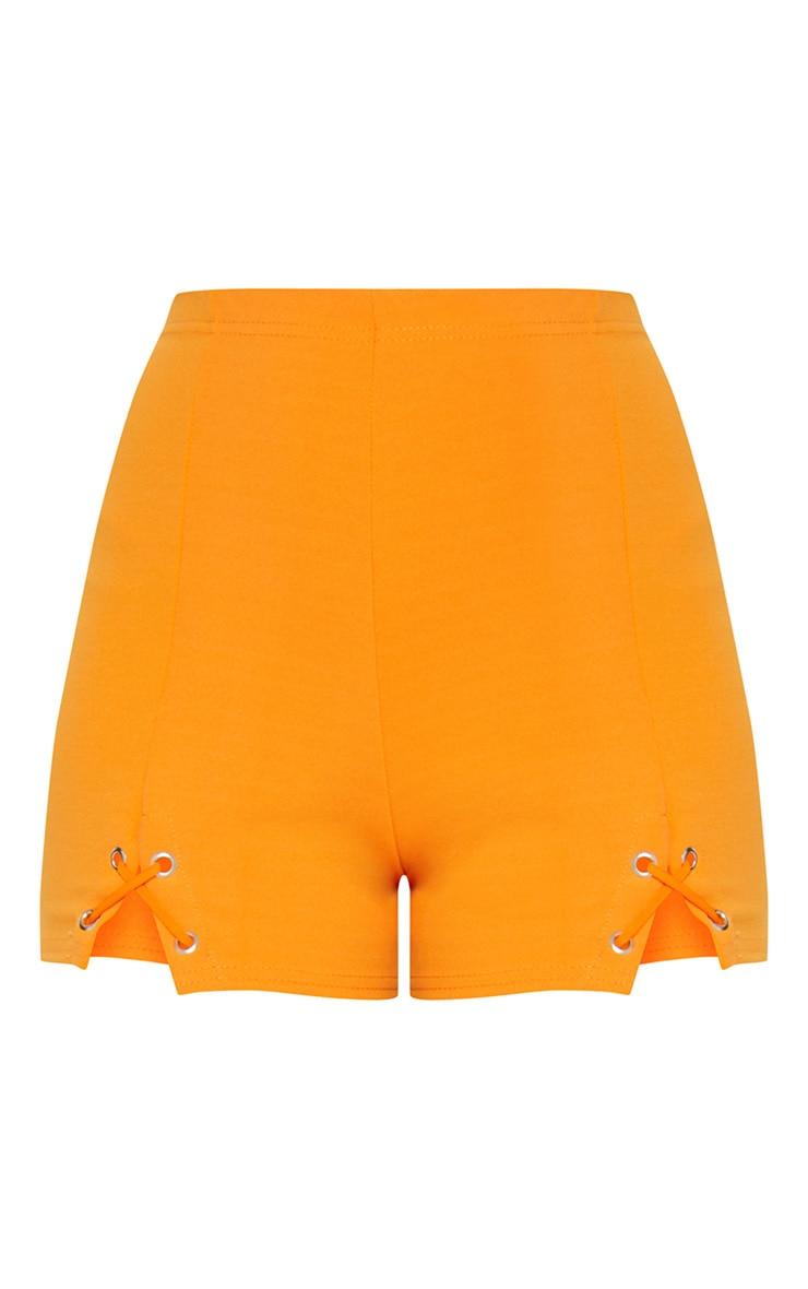 Aly Pastel Orange Lace Up Hotpants 3
