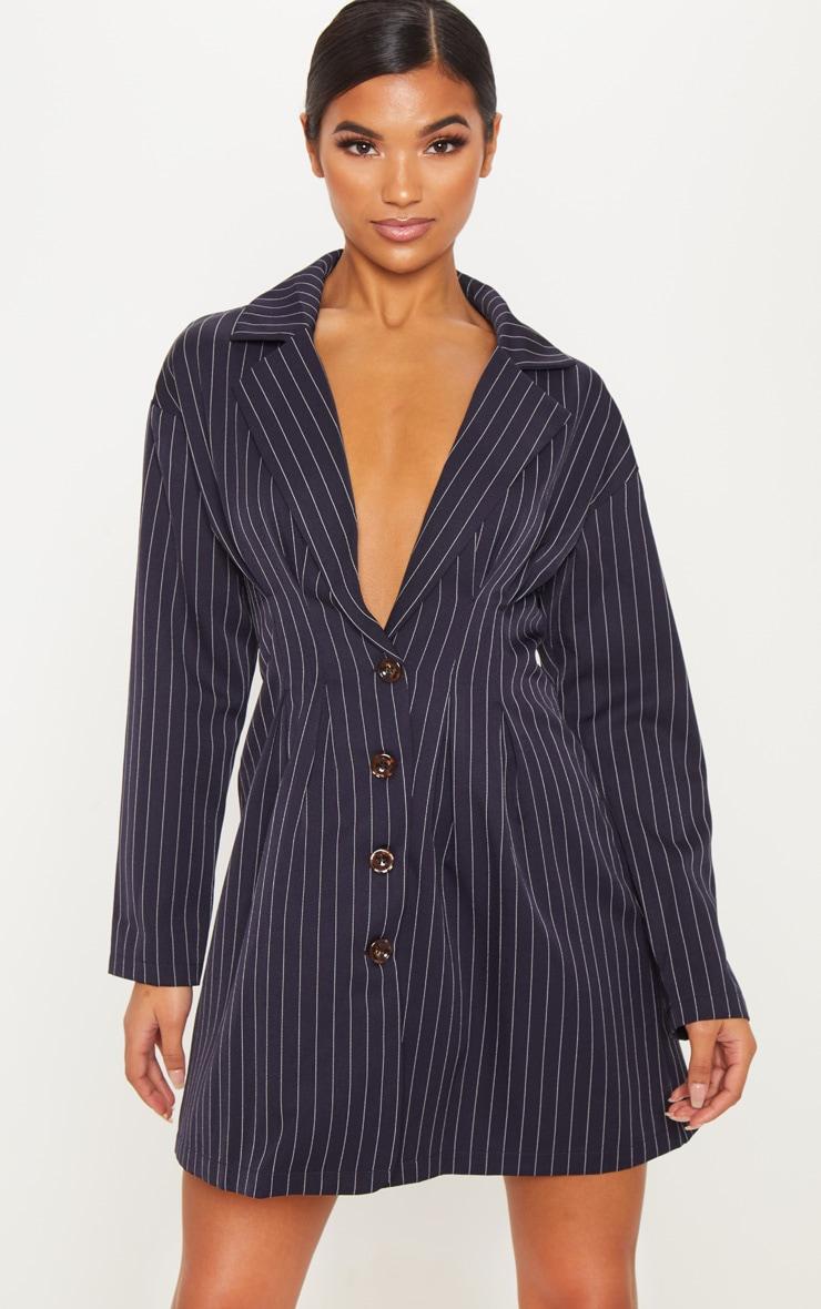 innovative black pinstripe blazer