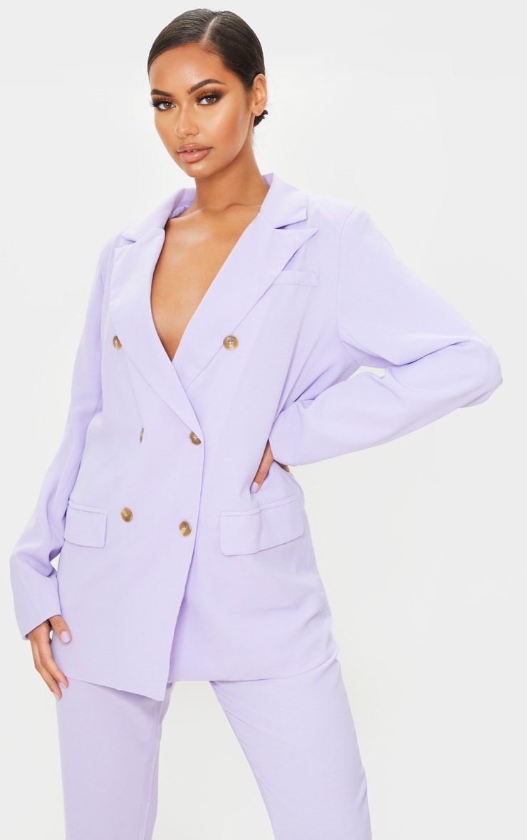 Lilac Tailored Woven Blazer 1