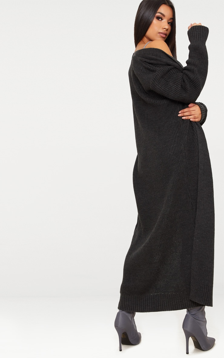 Long cardigan anthracite 2