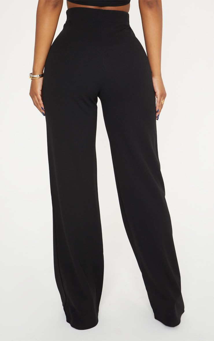 Shape Black Belt Trim Wide Leg Trousers 4