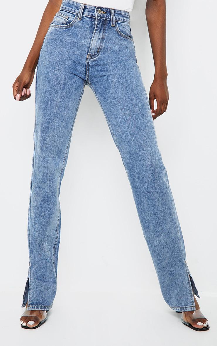 Tall - Jean bleu vintage à ourlet fendu 2