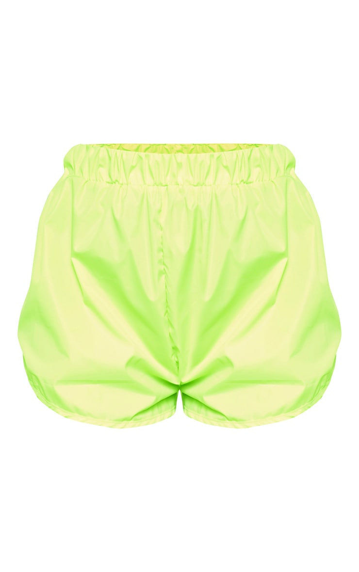 Neon Green Shell Runner Short 3