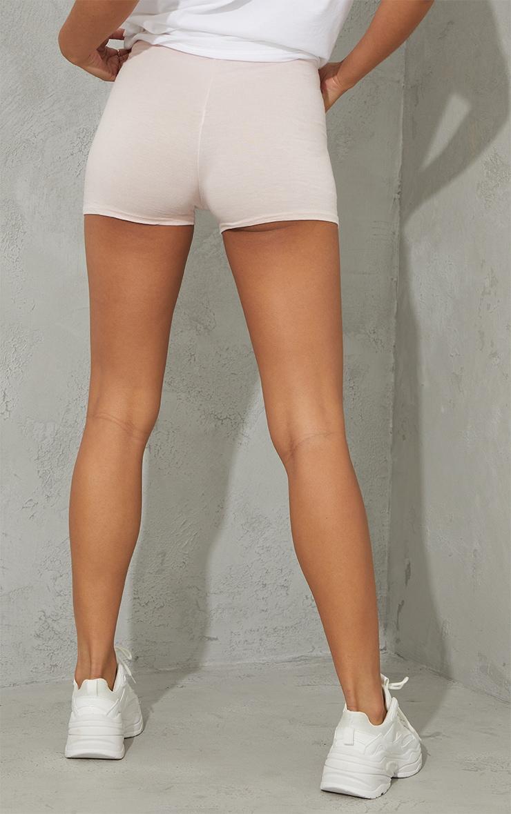 Basic Nude Jersey High Waist Hot Pants 3