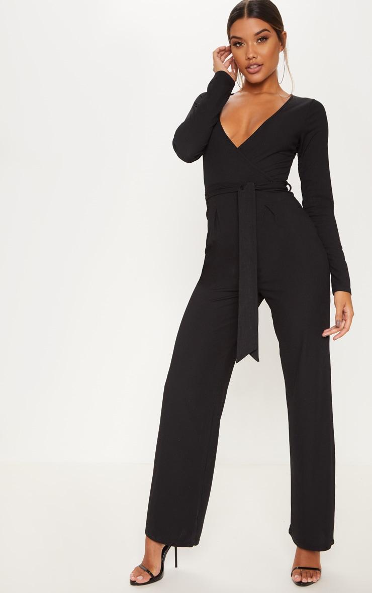 Black Tie Waist Jumpsuit 1