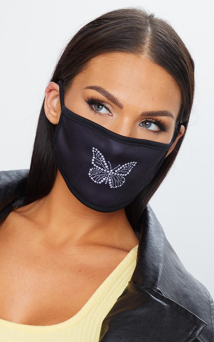 Black Butterfly Face Mask 1