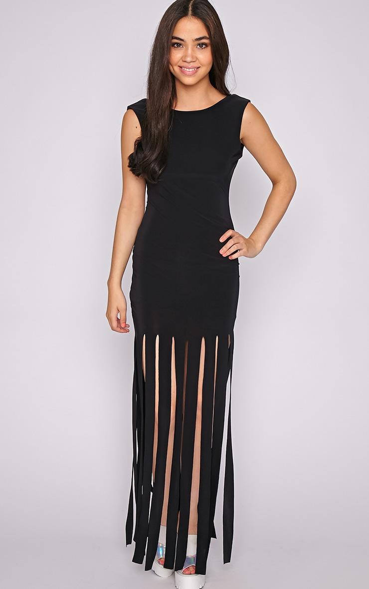 Laurel Black Tassel Maxi Dress 4
