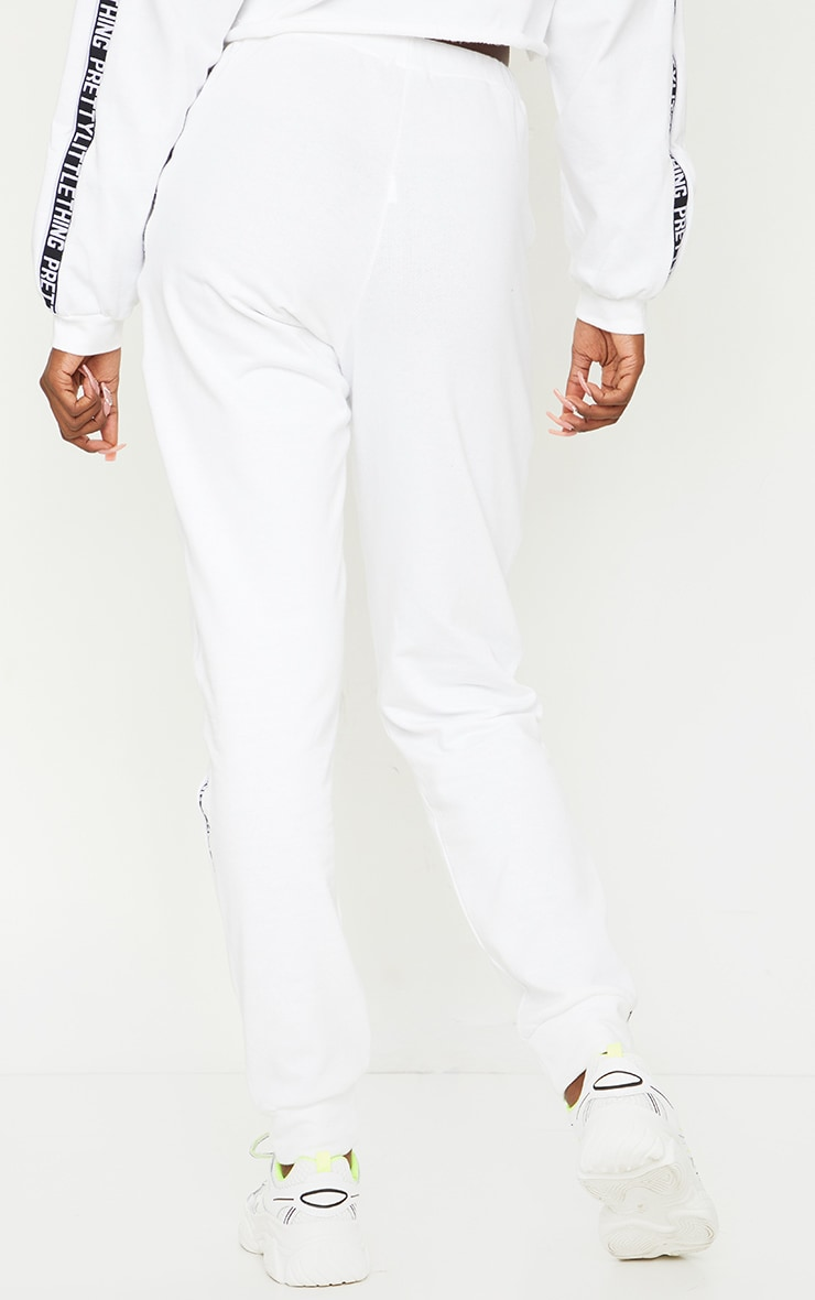 PRETTYLITTLETHING Tall White Joggers 3
