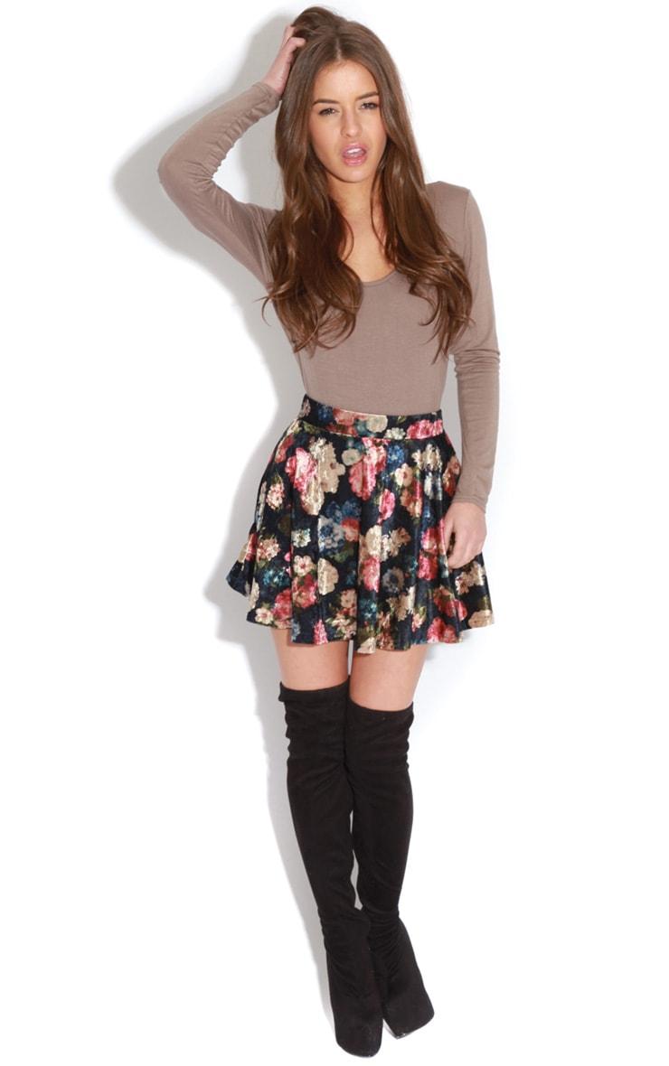Maryana Mocha Long Sleeve Bodysuit  4