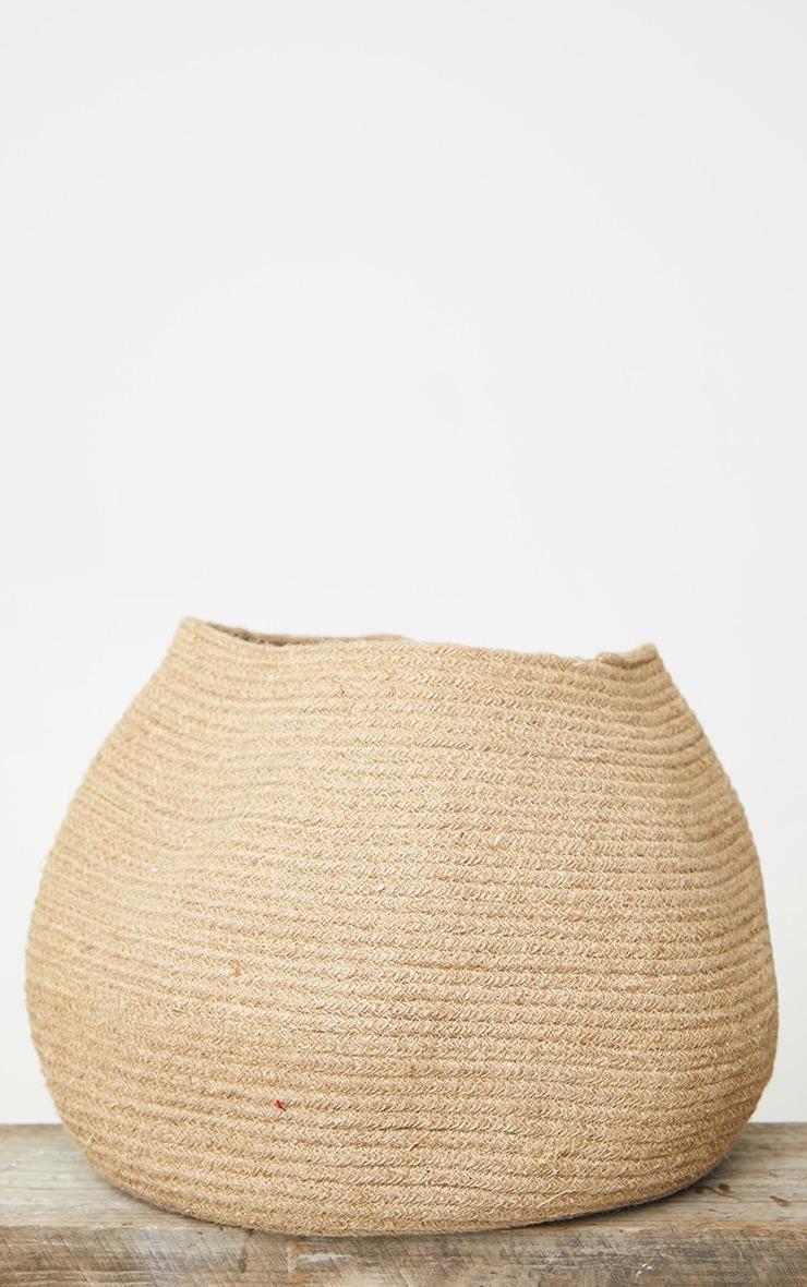 Natural Jute Round Storage Basket  4
