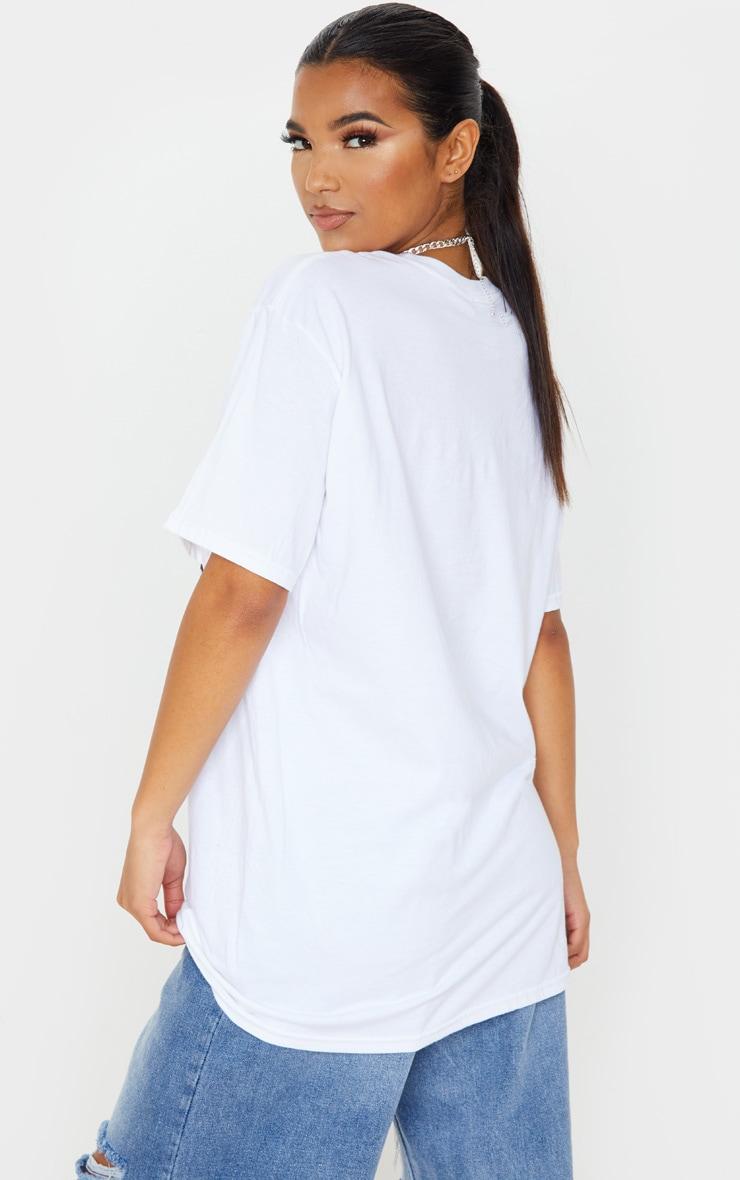 White Spirit Slogan T Shirt 2