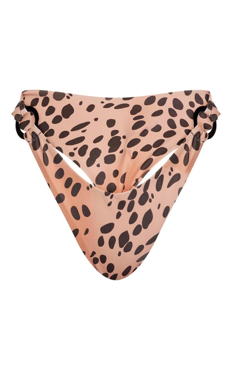 Nude Spot Ring Detail Thong Bikini Bottom 6