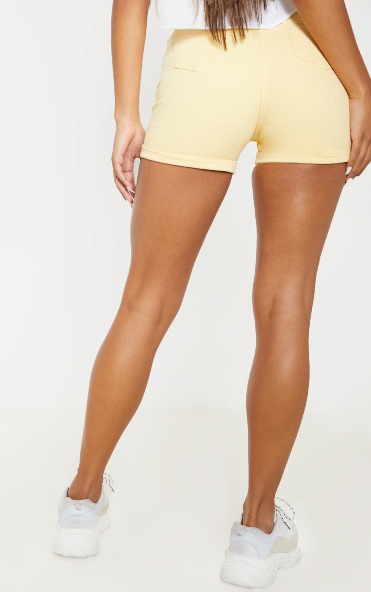 Yellow Turn Up Mom Shorts 4