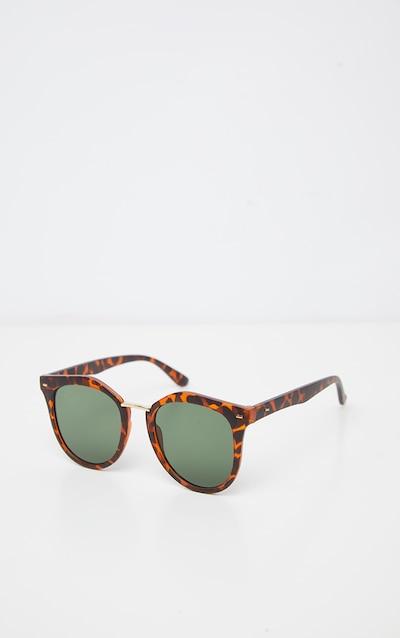 Tortoiseshell Matte Frame Wayfarer Sunglasses