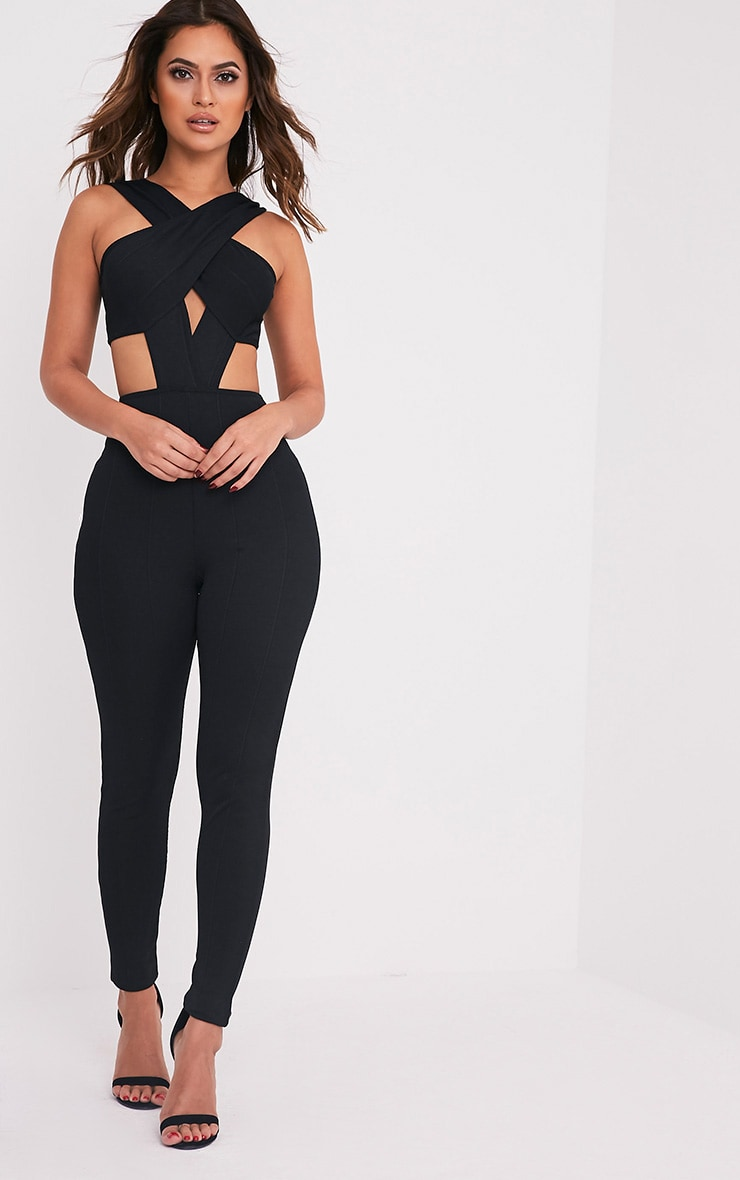48466a0c705 Julia Black Bandage Jumpsuit - Jumpsuits   Playsuits ...