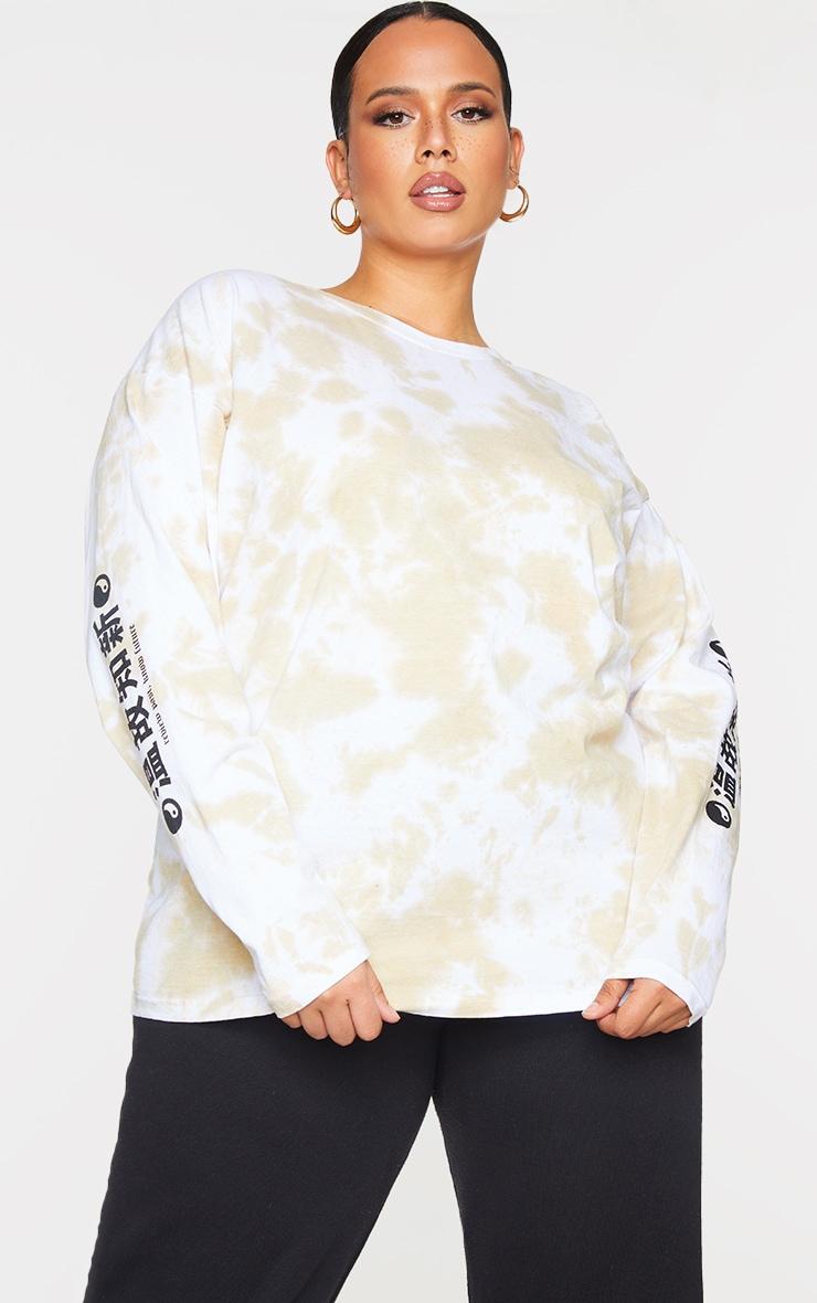Plus Stone Tie Dye Tokyo Long Sleeve T-Shirt 2