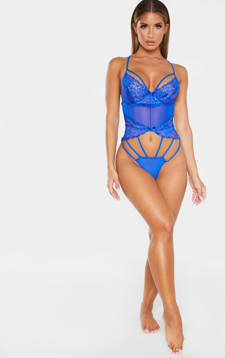 Cobalt Strapping Detail Lace Body 5