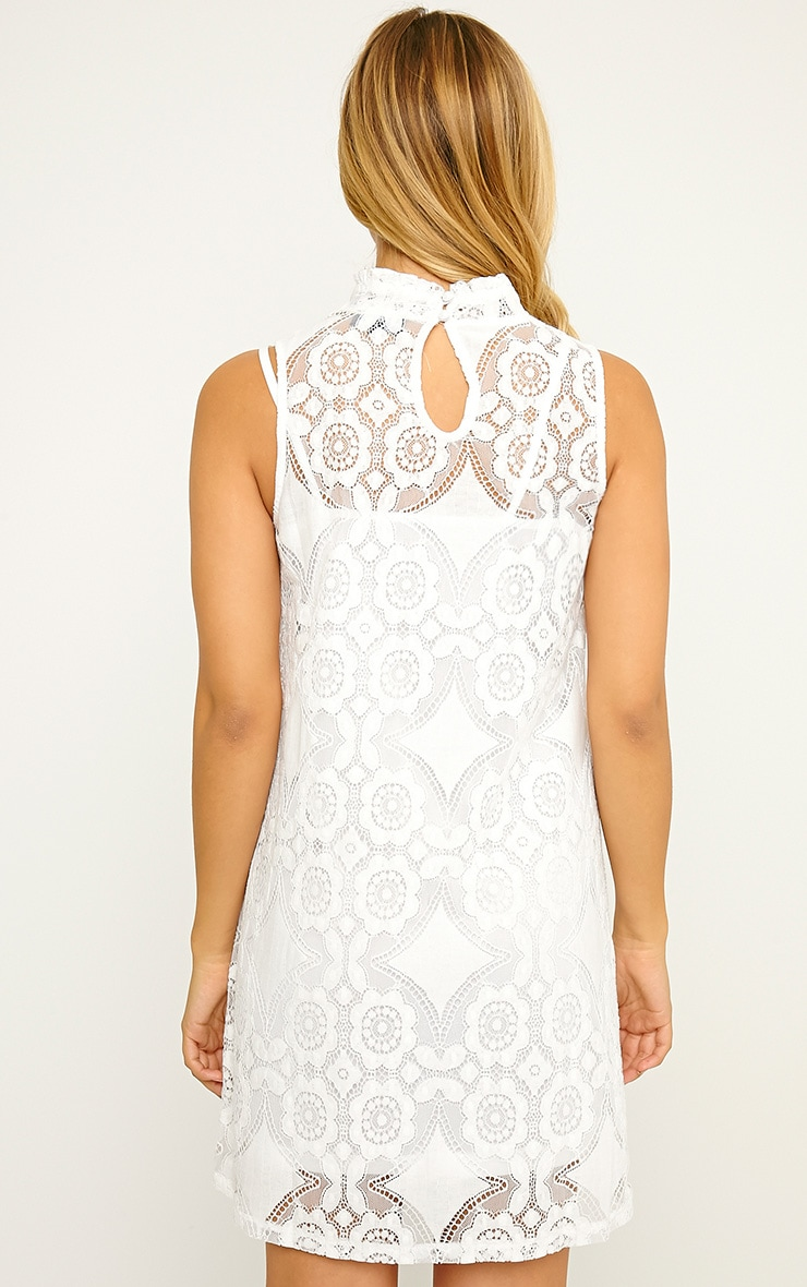 Kelsey White Lace Shift Dress 2