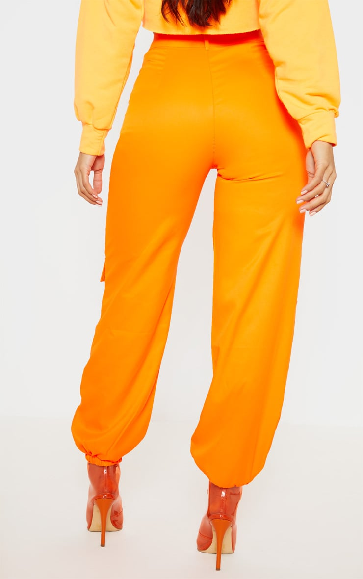 Orange 3D Pocket Cargo Trouser 4