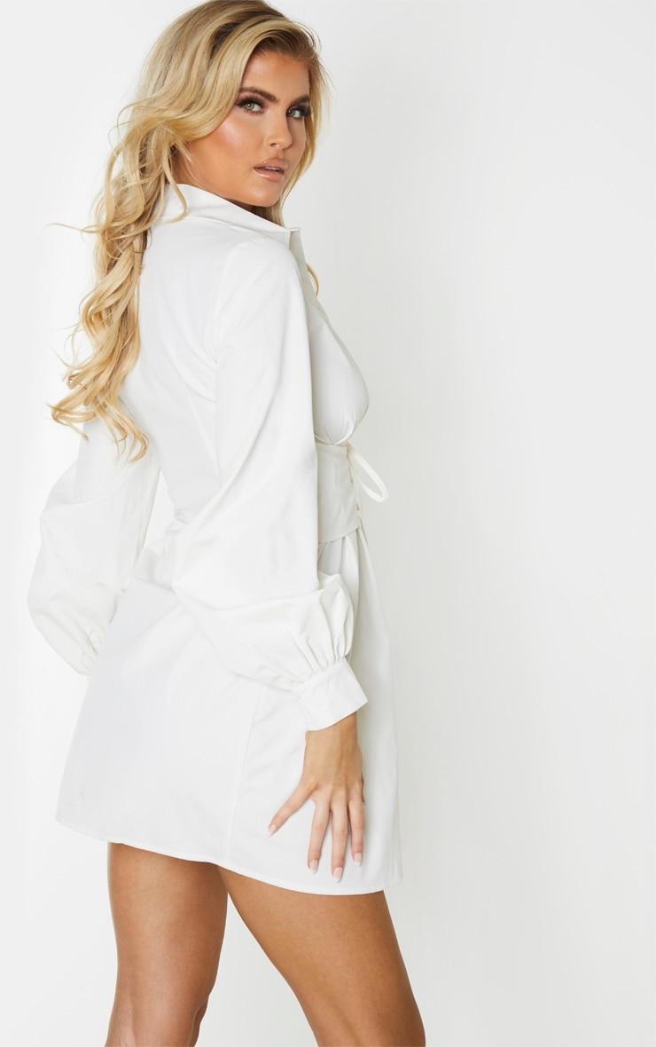 Tall - Robe chemise crème à détail corset 2