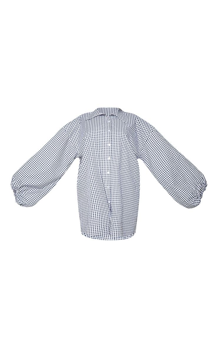 Plus Monochrome Balloon Sleeve Shirt Dress 5